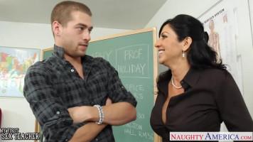 Milf tanárnő és a fiatal fiú