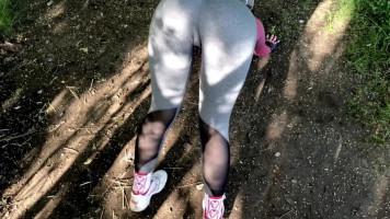 Megbasztam az asszonyt, miközben a parkban edzettünk!